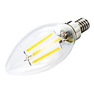 billige Stearinlyslamper med LED-400 lm E12 LED-lysestakepærer C35 leds COB Mulighet for demping Dekorativ Varm hvit AC 110-130V