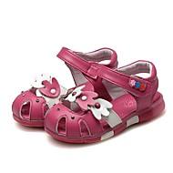 baratos Sapatos de Menina-Para Meninas Sapatos Couro Verão Conforto / Primeiros Passos Sandálias Pedrarias / Laço para Branco / Pêssego / Rosa claro