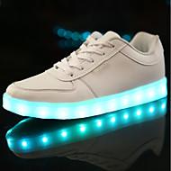 Poikien kengät Tekonahka Talvi Syksy Comfort Valopohjat Välkkyvät kengät Lenkkitossut Solmittavat LED varten Kausaliteetti Valkoinen Musta