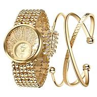 billige Quartz-Dame Armbåndsur Kinesisk Kronograf / Stor urskive / Imiteret Diamant Legering Bånd Luksus / Glitrende / Elegant Guld