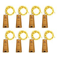 Brelong 8pcs 5led Weinflasche Kupfer Lichterketten für Weihnachten Halloween Hochzeit Dekorationen