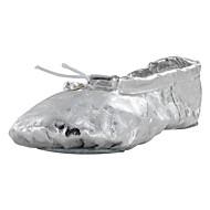 billige Ballettsko-Barne Ballett Fuskelær Flate Trening Flat hæl Gull Sølv Kan spesialtilpasses