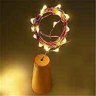 1m LED solarna rasvjeta Žice sa svjetlima 10 LED diode 1M String Light Toplo bijelo Bijela Više boja Sunce Vodootporno Voda za boce za