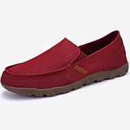 baratos Sapatos de Tamanho Pequeno-Homens Alpercatas Lona Primavera / Outono Conforto Mocassins e Slip-Ons Vermelho / Azul / Khaki / Festas & Noite