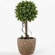 billige Kunstige blomster-1 Gren Plastikk Planter Bordblomst Kunstige blomster