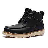 tanie Small Size Shoes-Męskie Buty Skóra Zima Jesień Obuwie w stylu wojskowym Comfort Buciki Kozaczki / kozaki do kostki na Biuro i kariera Na wolnym powietrzu