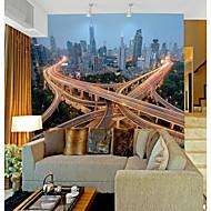 billige Tapet-Art Deco 3D Hjem Dekor Moderne Bylandskap Tapetsering , Vinylal Materiale selvklebende nødvendig Veggmaleri , Tapet