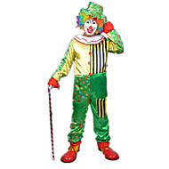 Burlesk / Klovn Cirkus Cosplay Kostumer Festkostume Herre Dame Karneval Festival / Højtider Halloween Kostumer Regnbue Farveblok Fest /