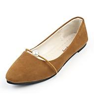 Žene Cipele PU Proljeće Jesen Udobne cipele Ravne cipele Ravna potpetica Krakova Toe za Kauzalni Crn Sive boje Braon Zelen Pink