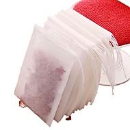 baratos Café e Chá-100pcs sacos de não-tecidos de chá tecido com filtro de ervas de chá de cadeia filtro infusor