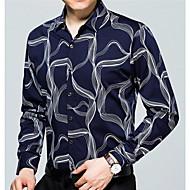 Majica Muškarci - Vintage Sport Geometrijski oblici Klasični ovratnik Svila