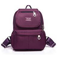 tanie Plecaki-Damskie Torby Tkanina Oxford plecak Zamek na Casual Na wolnym powietrzu Na każdy sezon Niebieski Black Purple Fuchsia