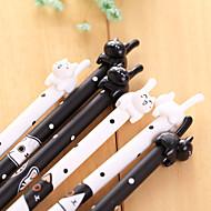 Gel Pen Pen Gel Penne Pen, Plastik Sort Blæk Farver For Skoleartikler Kontorartikler Pakke med 12