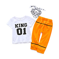 Baby Drenge Afslappet Simpel Kort Ærme Bomuld Tøjsæt