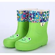 お買い得  女の子用靴-女の子 靴 PVCレザー 春 / 秋 コンフォートシューズ / レインブーツ ブーツ のために グリーン / ブルー / ピンク / ミドルブーツ