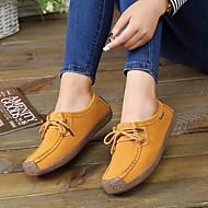 baratos Sapatos Masculinos-Mulheres Sapatos Pele Nobuck Outono / Inverno Bailarina Rasos Sem Salto Ponta Redonda Café / Vermelho / Azul Real