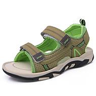 baratos Sapatos de Menino-Para Meninos sapatos Micofibra Sintética PU Primavera Verão Conforto Sandálias para Casual Azul Escuro Cinzento Verde Tropa