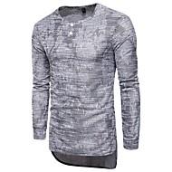 V-hals Herre - Ensfarvet Bomuld Gade Sport T-shirt