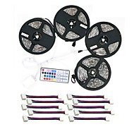 cheap LED Strip Lights-ZDM® 600 LEDs 4x 5M LED Strip Light 1 44Keys Remote Controller 1x 1 To 4 Cable Connector 10 Connectors RGB Cuttable Self-adhesive DC 12V