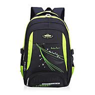billige Skoletasker-Unisex Tasker Oxfordtøj rygsæk Lynlås for udendørs Sort / Rød / Gul