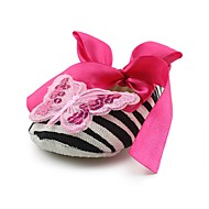 cheap Baby Shoes-Girls' Shoes Fabric Spring Fall Crib Shoes First Walkers Comfort Flats Bowknot Appliques Ribbon Tie for Wedding Dress Pink