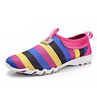 baratos Sapatos Masculinos-Homens Tule / Com Transparência Primavera / Verão Conforto Mocassins e Slip-Ons Estampa Colorida Cinzento / Roxo / Fúcsia