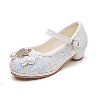 cheap Girls' Shoes-Girls' Shoes PU Spring Summer Flower Girl Shoes Novelty Flats Bowknot Beading Buckle for Wedding Party & Evening Gold White Silver Blue