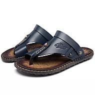 cheap Men's Slippers & Flip-Flops-Men's Shoes PU Summer Slippers & Flip-Flops Walking Shoes Blue / Light Brown