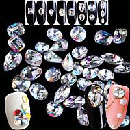 5pcs/set Glimmer Nail Art Tool Negle Smykker Musserende / Super Lett / 3D Neglekunst Manikyr pedikyr Fest & Aften / Fest / Daglig Krystall / Rhinestone / Glitrende / Nail Smykker / Glitter & Sparkle