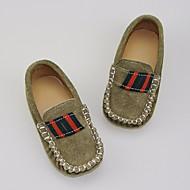baratos Sapatos de Menino-Para Meninos / Para Meninas Sapatos Pele Nobuck / Couro Primavera / Outono Conforto Mocassins e Slip-Ons para Preto / Azul Escuro / Khaki