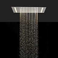 お買い得  シャワーヘッド-省エネと現在の浴室のレインシャワーヘッドを交互にステンレス鋼304 110V〜220Vはランプを導いた