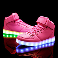 cheap Girls' Shoes-Girls' Shoes PU Spring Fall Comfort Sneakers LED for Casual Outdoor Pink Blue Black White