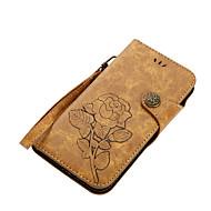 billiga Mobil cases & Skärmskydd-fodral Till Motorola G5 Plus E4 Plus Korthållare Plånbok med stativ Lucka Magnet Mönster Fodral Blomma Hårt PU läder för Moto G5 Plus