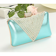 baratos Clutches & Bolsas de Noite-Mulheres Bolsas PU Bolsa de Mão Miçangas Prata / Fúcsia / Azul Céu
