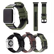 billiga Smart klocka Tillbehör-Klockarmband för Apple Watch Series 3 / 2 / 1 Apple Modernt spänne Nylon / Äkta Läder Handledsrem