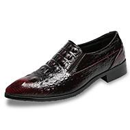 tanie Obuwie męskie-Męskie Komfortowe buty PU Wiosna / Jesień Adidasy Czarny / Burgundia