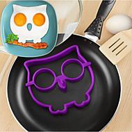 billige Eggeverktøy-tegneserie ugle form egg steke ring, silikon materiale