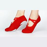 billige Ballettsko-Dame Ballettsko Lerret Joggesko Tvinning Kustomisert hæl Kan spesialtilpasses Dansesko Svart / Rød / Rosa