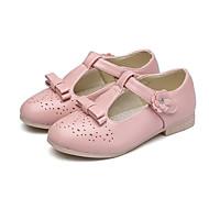billige Sko til blomsterpiger-Pige Sko PU Forår sommer Sko til blomsterpiger / Tiny Heels for teenagere Hæle for Sort / Rød / Lys pink