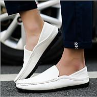 Homme Chaussures Polyuréthane Eté Confort Mocassins et Chaussons+D6148 pour Décontracté Blanc Noir Bleu