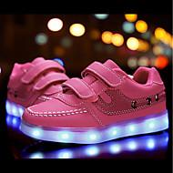 tanie Obuwie dziewczęce-Dla dziewczynek Buty Derma Materiał do wyboru Nubuk Zima Wiosna Świecące buty Comfort Tenisówki LED Tasiemka na Casual Na wolnym powietrzu