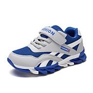 baratos Sapatos de Menino-Para Meninos Sapatos Courino / Couro Ecológico Outono Conforto Tênis Corrida Cadarço / Velcro para Azul Escuro / Vermelho / Azul Real