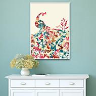 baratos Quadros com Moldura-Abstrato Animais Ilustração Arte de Parede,PVC Material com frame For Decoração para casa Arte Emoldurada Sala de Estar Quarto Cozinha