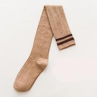 お買い得  靴用品-3ペア 女性用 ソックス ミディアム ストライプ 保温 / 防汗 / デオドラント コットン EU36-EU42