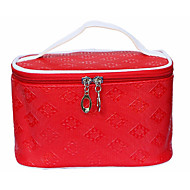お買い得  コスメティックバッグ-PU 幾何学模様 パターン/プリント のために カジュアル オールシーズン パープル ペールブルー フクシャ ピンク ダークレッド