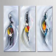 billiga Oljemålningar-Hang målad oljemålning HANDMÅLAD - Abstrakt Samtida Enkel Moderna Duk