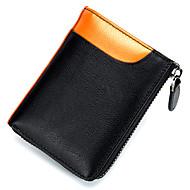 お買い得  コインケース&ホルダー-男性用 バッグ レザー 小銭入れ ジッパー のために フォーマル オレンジ / グレー / ワイン