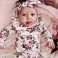 Peuter Meisjes Actief Dagelijks Bloemen Lange mouw Normaal Rayon Blouse Blozend Roze / Schattig