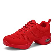 baratos Sapatilhas de Dança-Tênis de Dança Tricô Têni Salto Baixo Personalizável Sapatos de Dança Branco / Preto / Vermelho