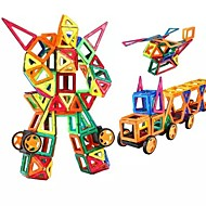 บล็อกแม่เหล็ก แผ่นแม่เหล็ก Building Blocks 218 pcs ผู้คน ยานพาหนะ transformable เด็กผู้ชาย เด็กผู้หญิง Toy ของขวัญ